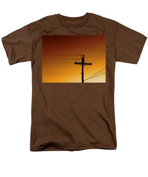 Power Line Sunset Men's T-Shirt  (Regular Fit) by Don Spenner