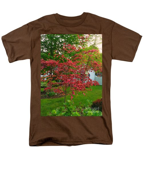 Men's T-Shirt  (Regular Fit) featuring the photograph Pretty Pink Beech Tree by Becky Lupe