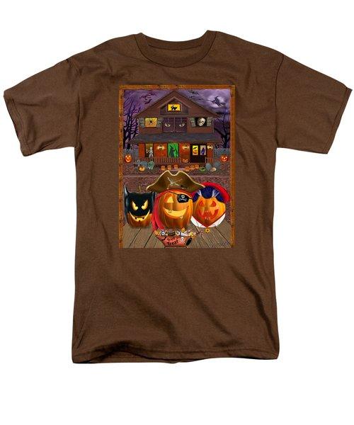 Pumpkin Masquerade Men's T-Shirt  (Regular Fit) by Glenn Holbrook