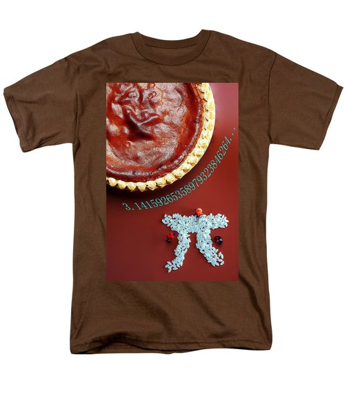 Men's T-Shirt  (Regular Fit) featuring the photograph Pumpkin Pie And Pi Food Physics by Paul Ge