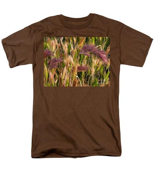 Purple Grasses Men's T-Shirt  (Regular Fit) by Meghan at FireBonnet Art