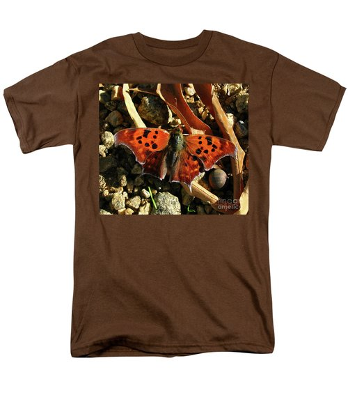 Men's T-Shirt  (Regular Fit) featuring the photograph Question Mark Butterfly by Donna Brown