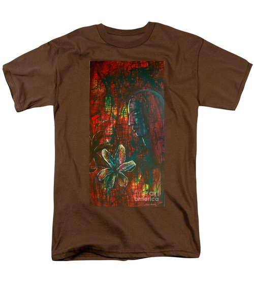 Men's T-Shirt  (Regular Fit) featuring the painting Radiating Light by Mini Arora