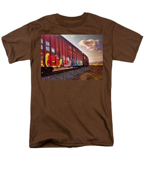 Railways Men's T-Shirt  (Regular Fit) by Janice Spivey