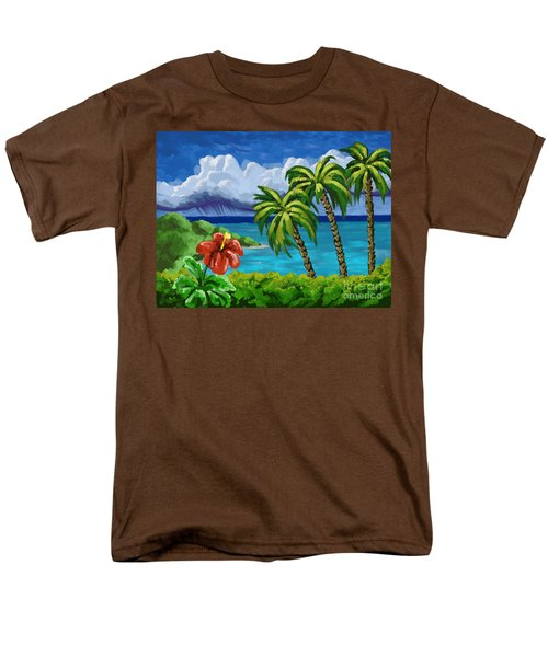 Men's T-Shirt  (Regular Fit) featuring the painting Rain In The Islands by Tim Gilliland