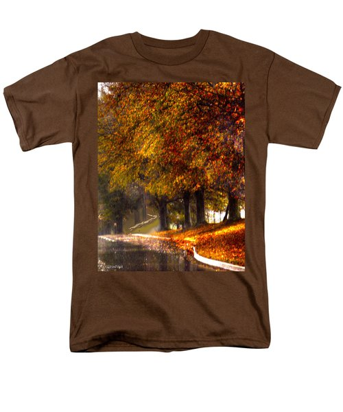 Men's T-Shirt  (Regular Fit) featuring the photograph Rainy Day Path by Lesa Fine