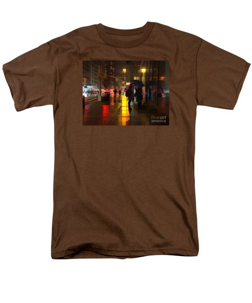Rainy Night New York Men's T-Shirt  (Regular Fit) by Miriam Danar