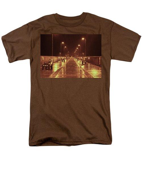 Rainy Night On The Pier Men's T-Shirt  (Regular Fit)