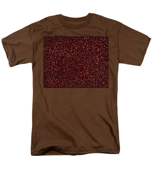 Red And Black Circles Men's T-Shirt  (Regular Fit)