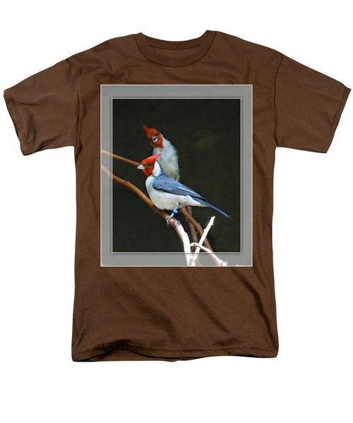 Red-crested Cardinal Men's T-Shirt  (Regular Fit) by Walter Herrit