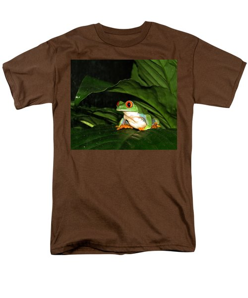 Red Eyed Green Tree Frog Men's T-Shirt  (Regular Fit) by MTBobbins Photography