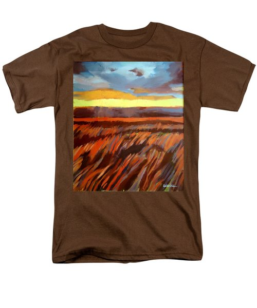 Men's T-Shirt  (Regular Fit) featuring the painting Red Field by Helena Wierzbicki