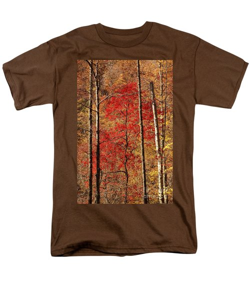 Men's T-Shirt  (Regular Fit) featuring the photograph Red Leaves by Patrick Shupert