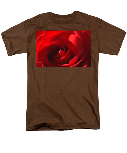 Men's T-Shirt  (Regular Fit) featuring the photograph Red Rose by Tikvah's Hope