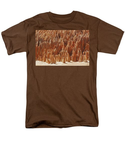 Men's T-Shirt  (Regular Fit) featuring the photograph red Tsingy Madagascar 1 by Rudi Prott