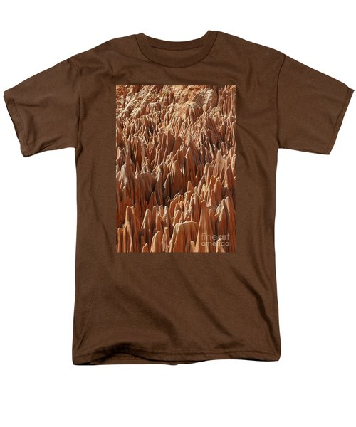 Men's T-Shirt  (Regular Fit) featuring the photograph red Tsingy Madagascar 3 by Rudi Prott