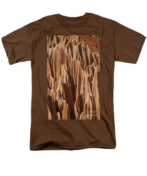 Men's T-Shirt  (Regular Fit) featuring the photograph red Tsingy Madagascar 5 by Rudi Prott