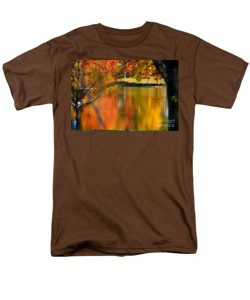 Reflection  Of My Thoughts  Autumn  Reflections Men's T-Shirt  (Regular Fit) by Peggy Franz