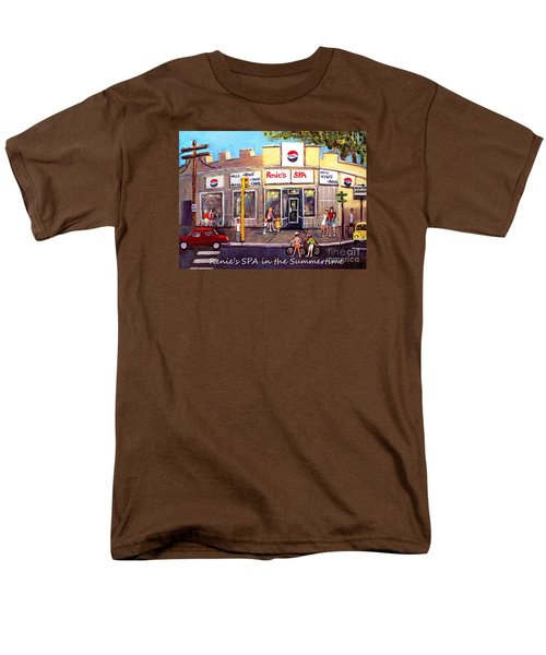 Men's T-Shirt  (Regular Fit) featuring the painting Renie's Spa In Summertime by Rita Brown