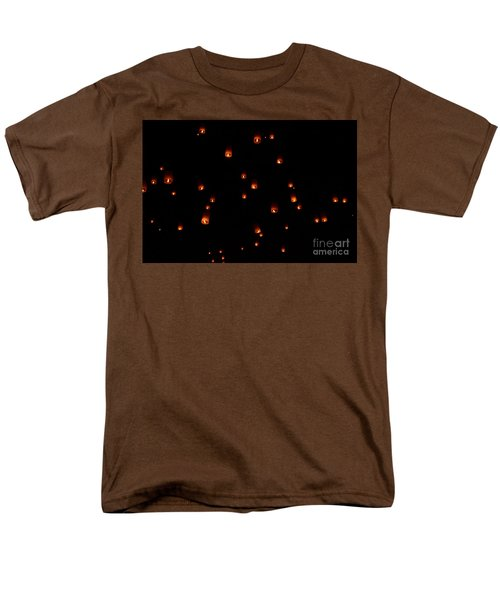 Rise Festival Lanterns 2014 Horizontal Sky Only Number One Men's T-Shirt  (Regular Fit) by Heather Kirk