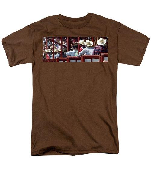 Men's T-Shirt  (Regular Fit) featuring the photograph Rodeo Time Cowboys by Susan Garren