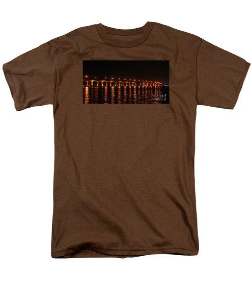 Men's T-Shirt  (Regular Fit) featuring the photograph Roosevelt Bridge Panorama by Olga Hamilton