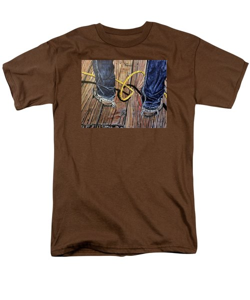 Roping Boots Men's T-Shirt  (Regular Fit) by Marilyn  McNish