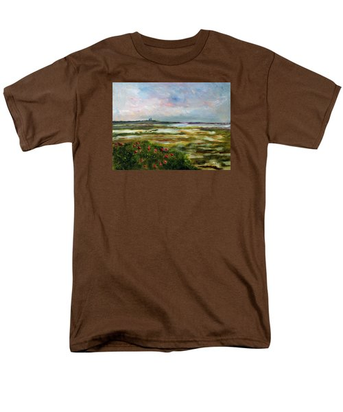 Men's T-Shirt  (Regular Fit) featuring the painting Roses Over The Marsh by Michael Helfen