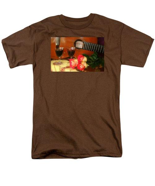Guitar 'n Roses Men's T-Shirt  (Regular Fit) by The Art of Alice Terrill