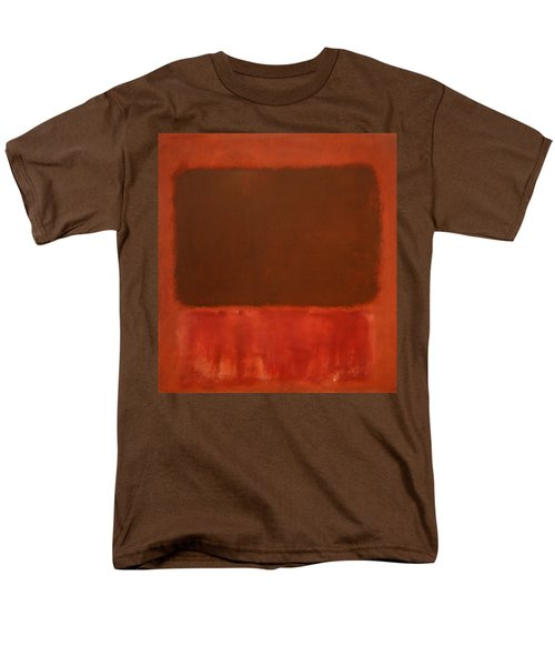 Rothko's Mulberry And Brown Men's T-Shirt  (Regular Fit)