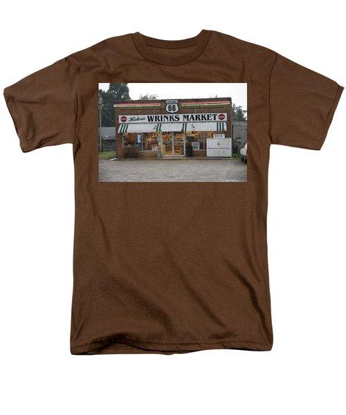 Route 66 - Wrink's Market Men's T-Shirt  (Regular Fit) by Frank Romeo