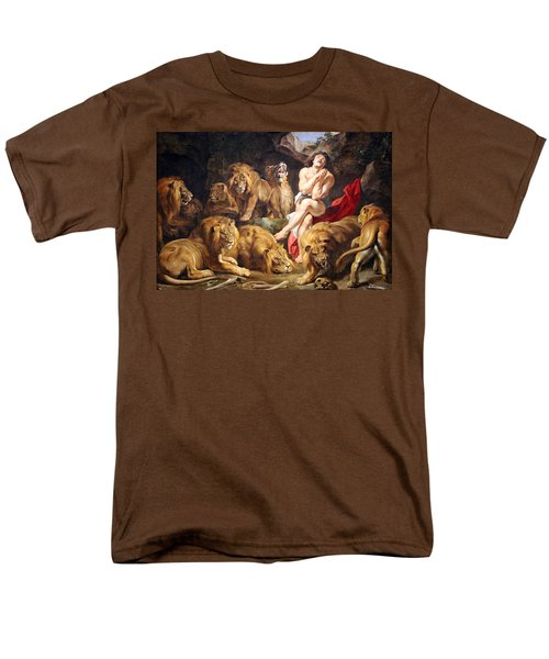 Men's T-Shirt  (Regular Fit) featuring the photograph Rubens' Daniel In The Lions' Den by Cora Wandel