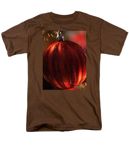 Ruby Red Christmas Men's T-Shirt  (Regular Fit) by Linda Shafer