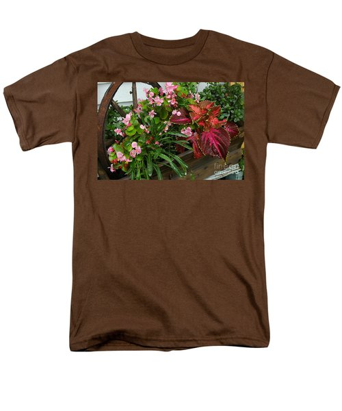 Men's T-Shirt  (Regular Fit) featuring the photograph Rustic Garden by Christiane Hellner-OBrien