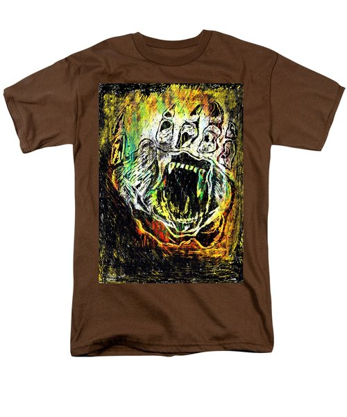 Men's T-Shirt  (Regular Fit) featuring the painting Sacred Paw Impression by Ayasha Loya
