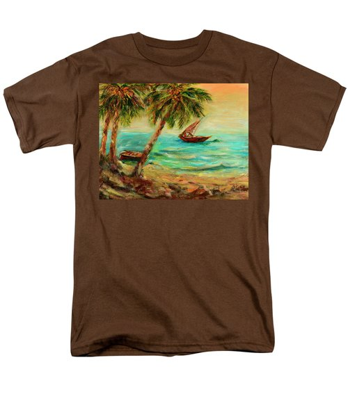 Sail Boats On Indian Ocean  Men's T-Shirt  (Regular Fit) by Sher Nasser