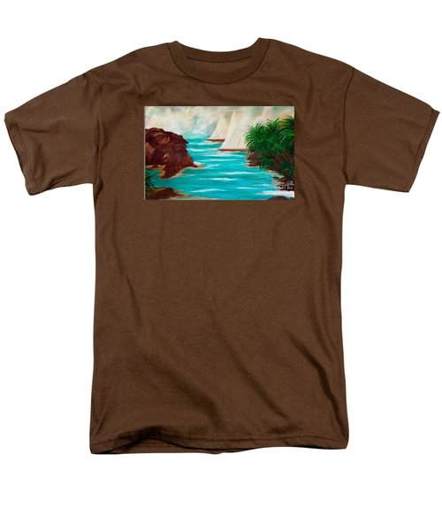 Sailing The Coast Of California Men's T-Shirt  (Regular Fit) by Sherri's Of Palm Springs
