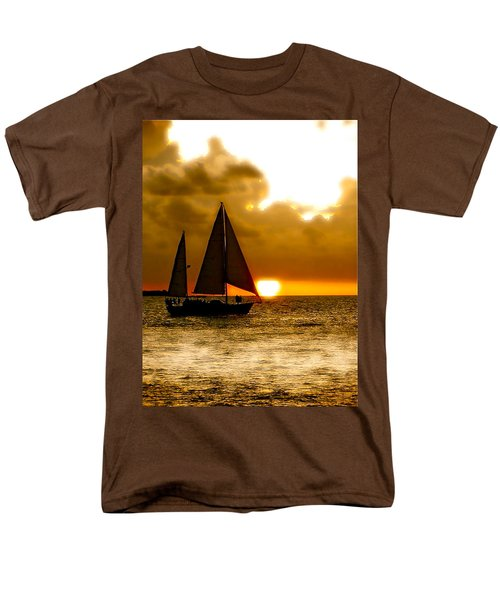 Men's T-Shirt  (Regular Fit) featuring the photograph Sailing The Keys by Iconic Images Art Gallery David Pucciarelli