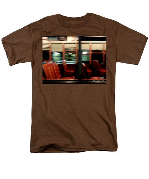 New Orleans Saint Charles Avenue Street Car In New Orleans Louisiana #6 Men's T-Shirt  (Regular Fit) by Michael Hoard
