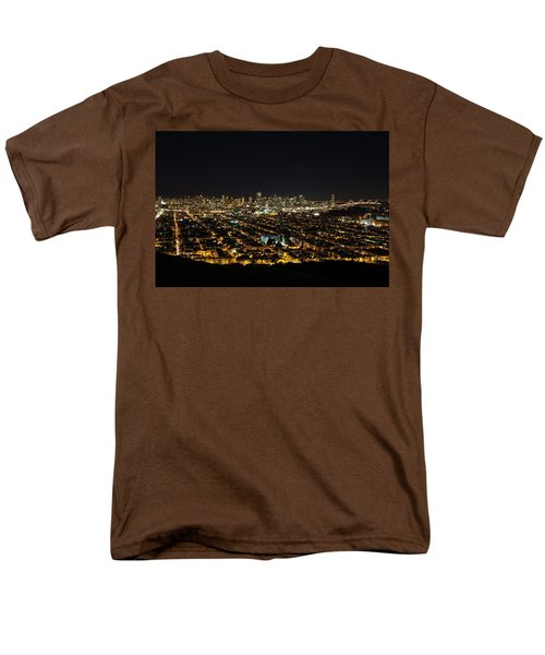 San Francisco Skyline Men's T-Shirt  (Regular Fit) by Dave Files