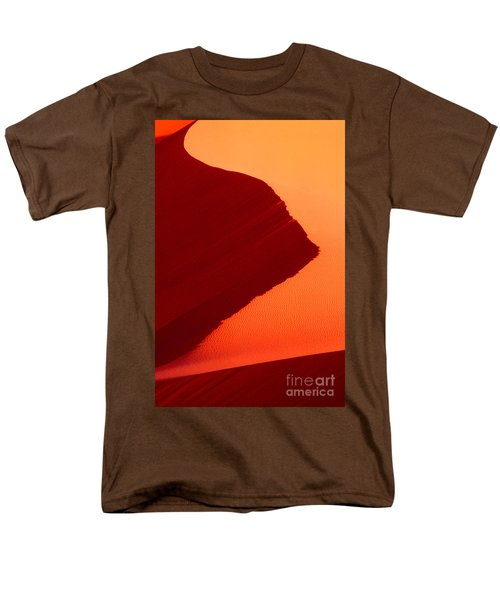 Men's T-Shirt  (Regular Fit) featuring the photograph Sand Dune Curves Coral Pink Sand Dunes Arizona by Dave Welling