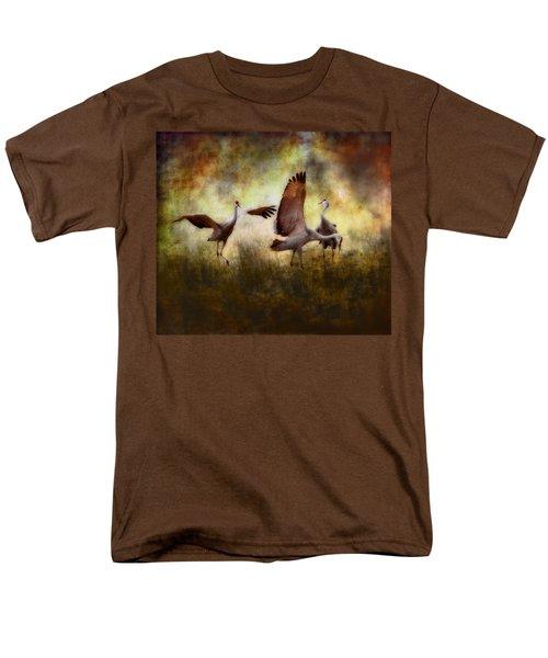 Sandhill Cranes  Men's T-Shirt  (Regular Fit) by Ellen Heaverlo