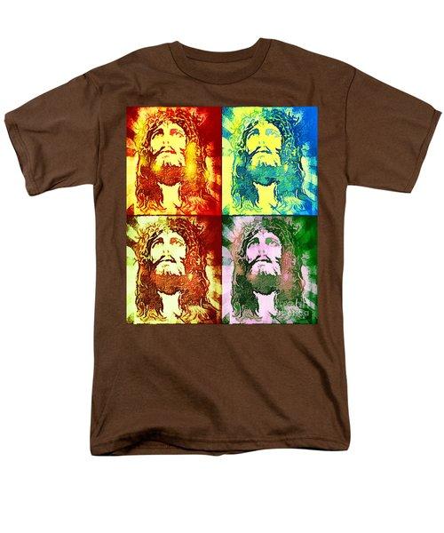 Men's T-Shirt  (Regular Fit) featuring the painting Savior Faces by Dave Luebbert