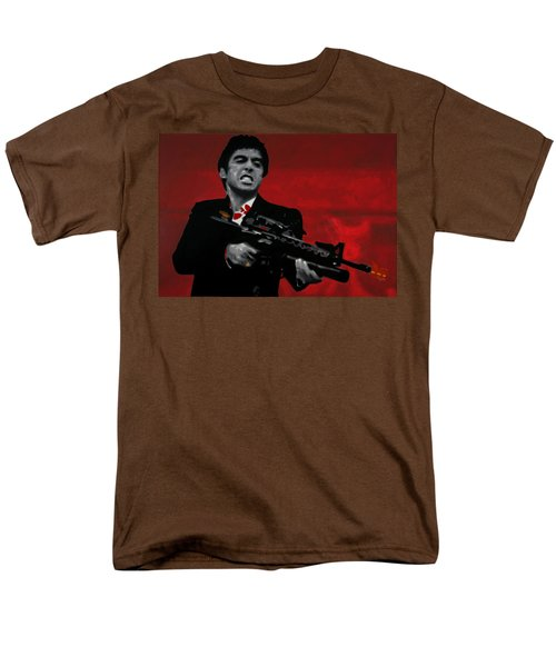 Say Hello To My Little Friend  Men's T-Shirt  (Regular Fit) by Luis Ludzska