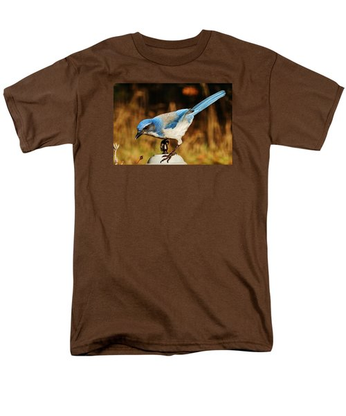 Scrub Jay Men's T-Shirt  (Regular Fit) by VLee Watson