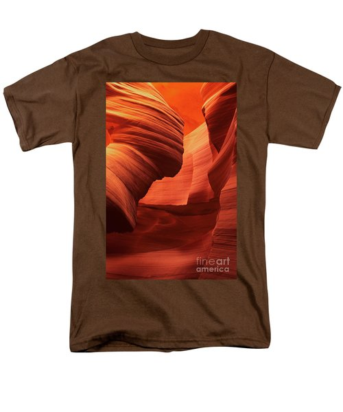 Men's T-Shirt  (Regular Fit) featuring the photograph Sculpted Sandstone Upper Antelope Slot Canyon Arizona by Dave Welling