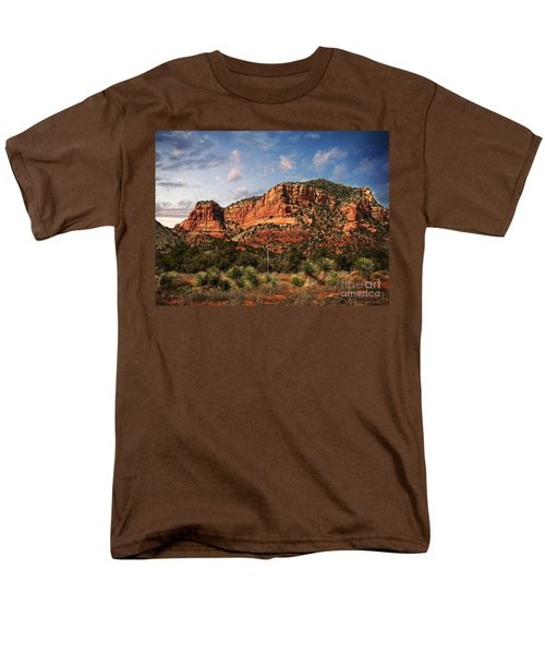 Men's T-Shirt  (Regular Fit) featuring the photograph Sedona Vortex  And Yucca by Barbara Chichester