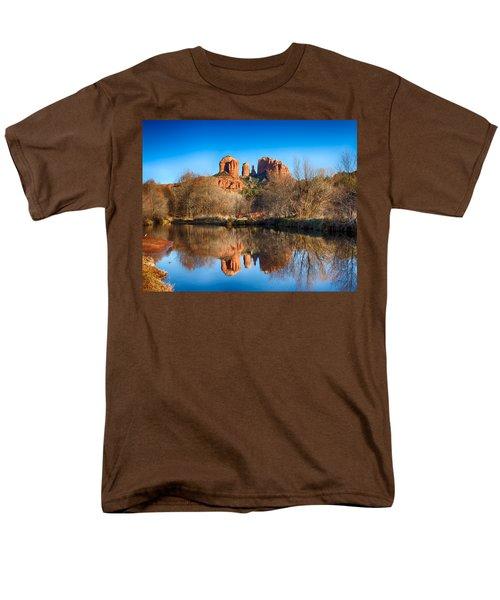 Sedona Winter Reflections Men's T-Shirt  (Regular Fit) by Fred Larson