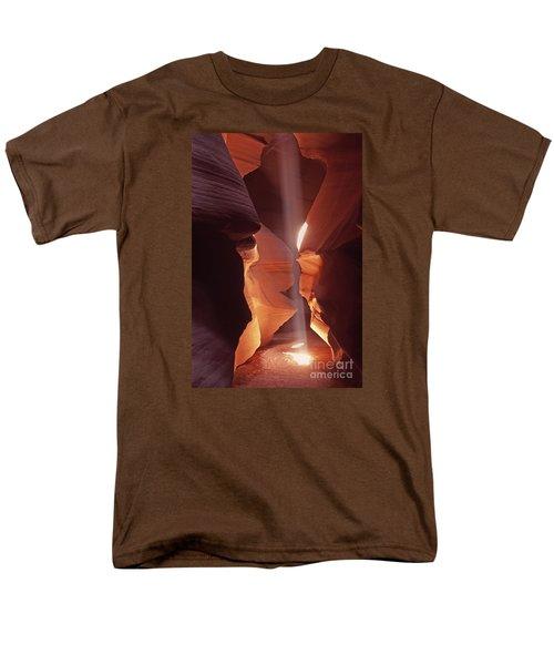 Shaft Of Light Antelope Canyon Men's T-Shirt  (Regular Fit) by Liz Leyden