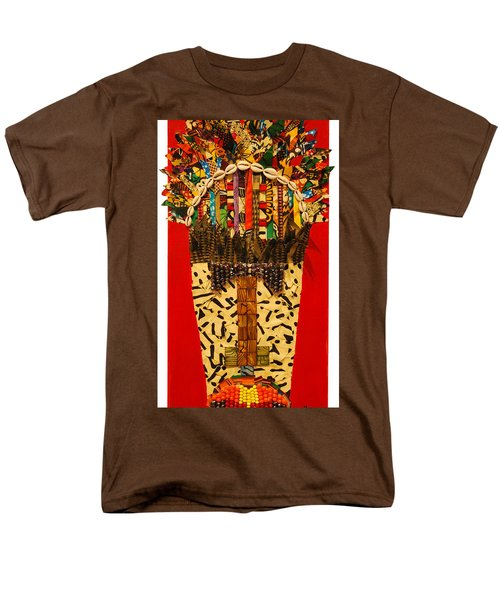 Men's T-Shirt  (Regular Fit) featuring the tapestry - textile Shaka Zulu by Apanaki Temitayo M